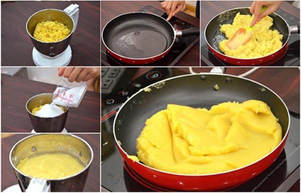 Cách làm bánh trung thu dẻo nhân trà xanh thơm ngon