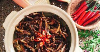 Cách làm món hoa chuối giả cá cơm kho chay lạ miệng