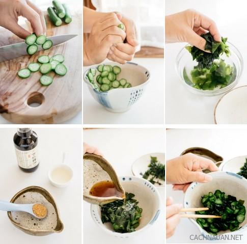 cach lam mon salad dua chuot va rong bien thom gion thanh mat 1 - Cách làm món salad dưa chuột và rong biển thơm giòn thanh mát