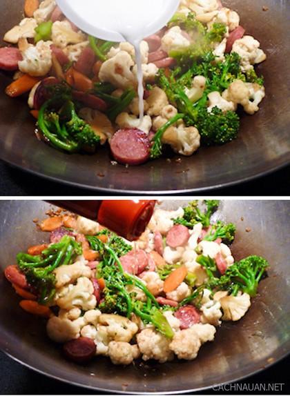 cach lam mon sup lo xao xuc xich nhanh va ngon cho bua toi 2 - Cách làm món súp lơ xào xúc xích nhanh và ngon cho bữa tối