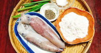 Cách làm mực chiên xóc muối ớt thơm ngon