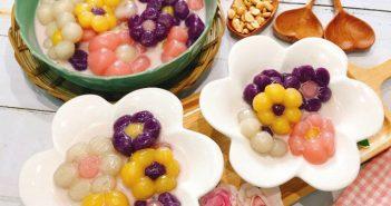 Cách nấu chè khoai dẻo tạo hình bông hoa ngon miệng