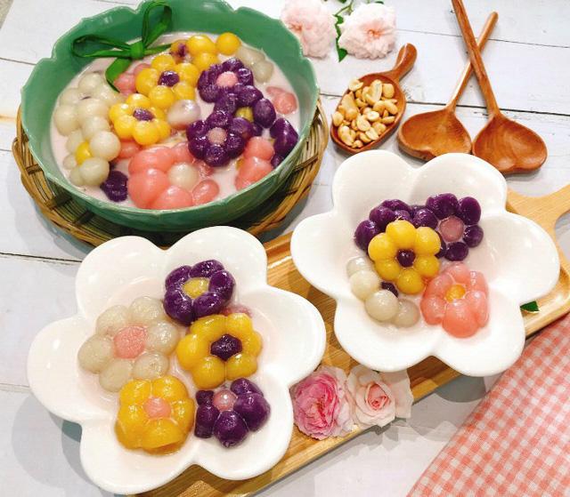 cach nau che khoai deo tao hinh bong hoa ngon mieng - Cách nấu chè khoai dẻo tạo hình bông hoa ngon miệng
