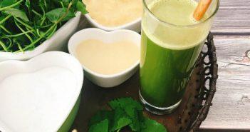 Cách pha nước rau má đậu xanh giải nhiệt